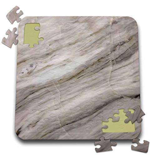 3dRose Alexis Photography - Texture Marble - Photo of Polished Marble Stone. Diagonal Stripes, Cracks - 10x10 Inch Puzzle ()
