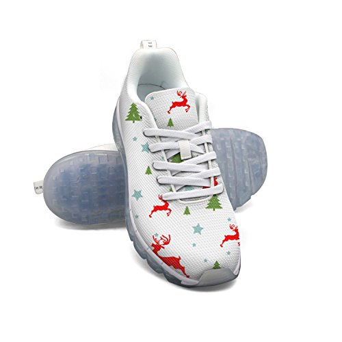 buy cheap find great FAAERD Christmas Moose And Trees Men's Breathable Mesh Walking Sneakers Air Cushion Sports Shoes Breathable Athletic Running Shoes the cheapest for sale OZBTB2WSTt
