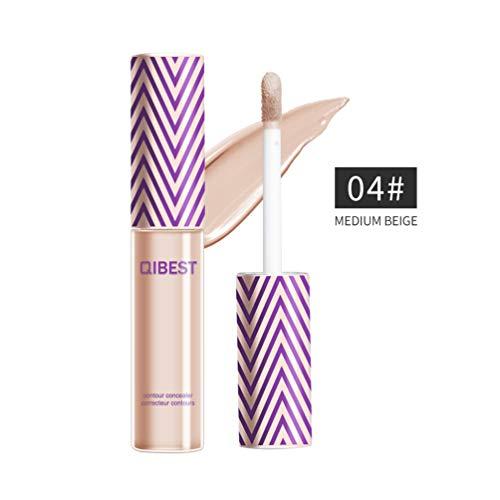 QIBEST Professional Makeup Contour Concealer Eyeshadow Primer, Full Wear Concealer, Full Coverage, MEDIUM BEIGE (4)