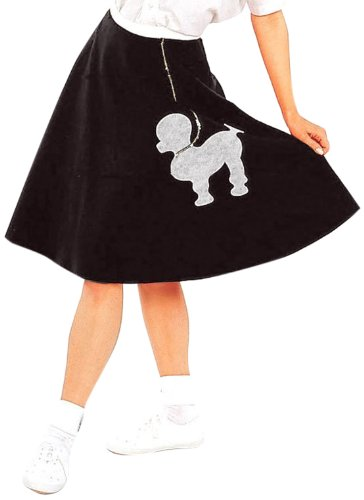 [Forum Flirtin' with The 50's Poodle Skirt, Black, One Size] (Black Poodle Skirt)