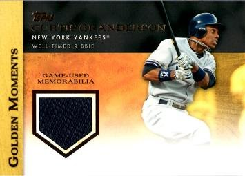 2012 Topps Golden Moments Relics #GMR-CG Curtis Granderson Game Worn Jersey Baseball Card