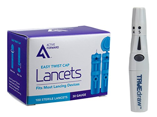 TRUEdraw Lancing Device with Cap + 100 Active Forward 30g Lancets
