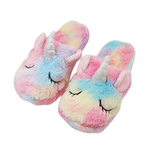 MaiYi Rainbow Unicorn Series Sleeping Mask & House Slippers Set Ideal for Women Girls