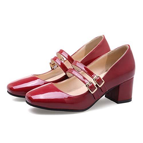 Rouge Compensées Red 5 EU SDC05724 36 Femme Sandales AdeeSu vBwOqITv
