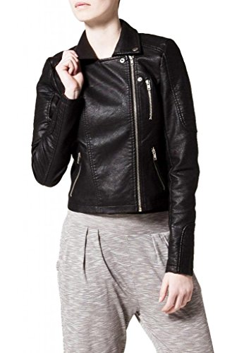 Giacca Donna Junction Junction Giacca Leather Leather Nero Leather Donna Giacca Nero Donna Junction 4qr0qd