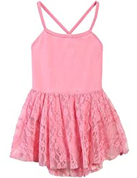 Arshiner Girls' Classic Camisole Ballet Lace Leotard Dance Dress