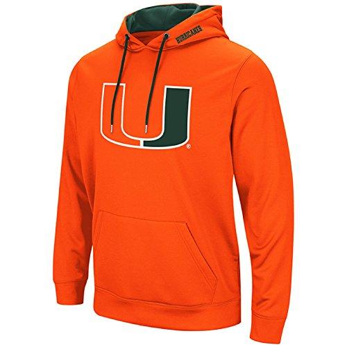 Miami Hurricanes Basketball - Colosseum Men's NCAA-Elite Zone Pullover Hoodie Sweatshirt-Miami Hurricanes-Orange-Medium
