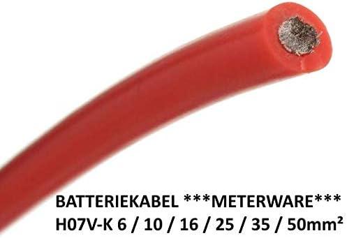 Batteriekabel Aderleitung Rot H07v K 6 10 16 25 35 5mm Mm2 Qmm Kupfer Meterware Massekabel Leitung 25mm Baumarkt