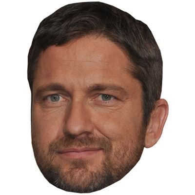 Gerard Butler Celebrity Mask, Card Face and Fancy Dress Mask (Tomb Raider Fancy Dress)