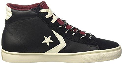 Converse Pro Leather Vulc Mid Leath/Sue -  para hombre Black/Maroon