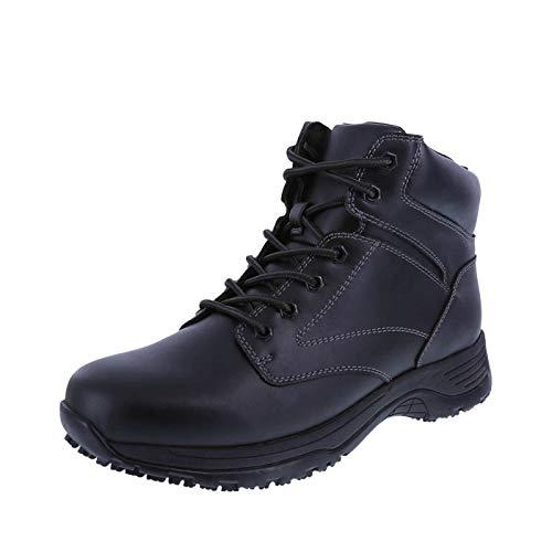 safeTstep Black Men's Slip Resistant Dawson Plain Toe Boots