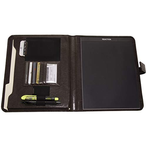 Kenneth Cole Reaction Faux Leather Standard Bifold Writing Pad with Business Organizer, Brown by Kenneth Cole REACTION (Image #2)