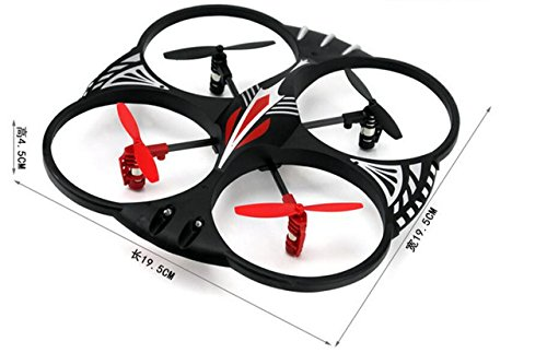 Attop YD-716 4 Channel RC 3-Axis Flight Control UFO Quadcopter w/LED Lights  by Attop