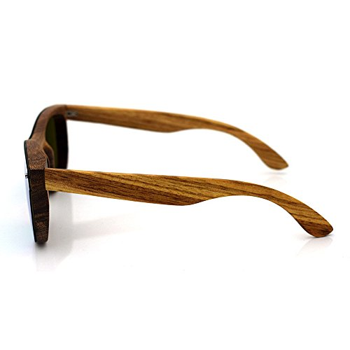 de Madera de de para Vasos de polarizadas Personalità Sol Gafas Estilo Gafas Aclth bambú monopezzo de Unisex de Unisex Zebra Sol Gafas Sol n8XPwxH5