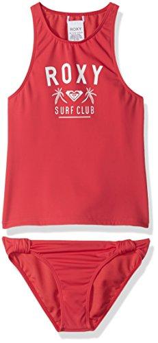 Roxy Big Girls' Need The Sea Tankini Swimsuit Set, Rouge Red, (Roxy Kids Girls Swimwear)