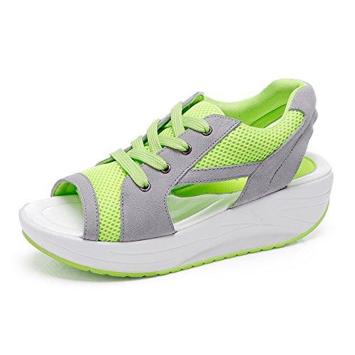 Dames Ademende Sandalen Sneakers Loopschoenen Schoenen (40, Groen)