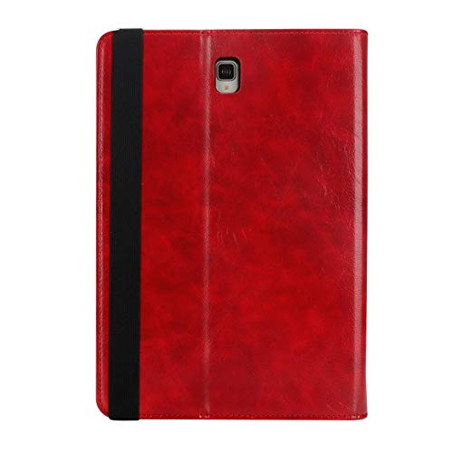 Galaxy Tab S3 Case with Pen Holder, TechCode Premium PU Leather Stand Protective Case Slim Smart Cover Multiple Viewing Angles Card Slot Tablet Pocket for Samsung Galaxy Tab S3 9.7 inch T820/T825, Red by TechCode (Image #7)