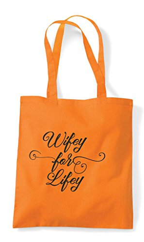 Tote Hen Shopper Wifey For Orange Personalised Customised Lifey Do Bag Party Hen YO1w8qBv