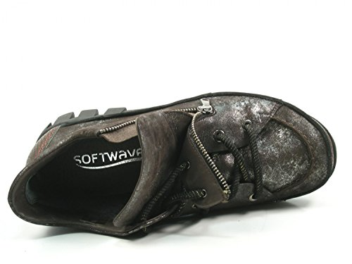 Softwaves 7-32-03 Scarpe Sneaker Basse Da Donna Stringate Marrone