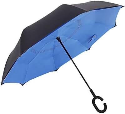 Reverse Umbrella & Inverted Umbrella - Travel Umbrella Windproof The Original All Weather Car Umbrella By Suprella