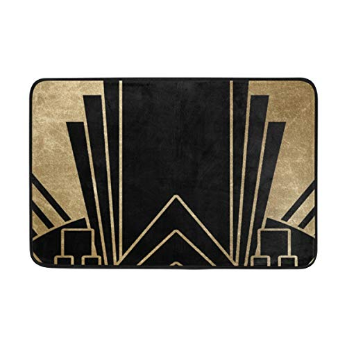 - WangH Doormat Art Deco Design, Door Mat Front Welcome Entrance for Dining Living Kitchen Hallway Bathroom