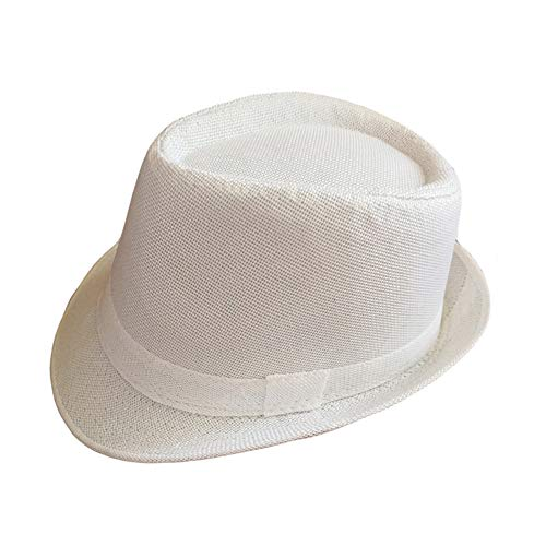 1920s Men Accessory Set Manhattan Hat Cap for Men,Manhattan Hat for 1920s Mens Costume Accessories (White) ()