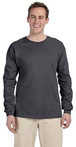 (Gildan Ultra Cotton 6 oz. Long-Sleeve T-Shirt, 3XL, DARK)