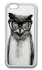 Apple Iphone 6 Case,WENJORS Adorable Mr Owl Soft Case Protective Shell Cell Phone Cover For Apple Iphone 6 (4.7 Inch) - TPU White