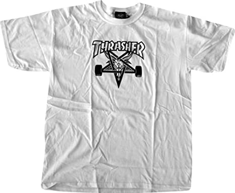 f6cb98893a78 Image Unavailable. Image not available for. Color  Thrasher Skategoat T- Shirt  Medium  White