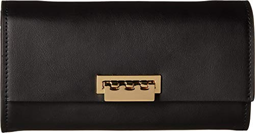 (ZAC Zac Posen Women's Wallet Crossbody with Chain Strap - Solid Black One Size)
