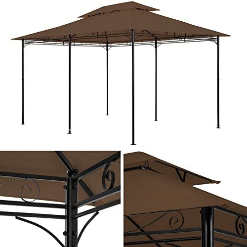 TecTake Carpa pabellón Tienda para Eventos y Fiestas de Jardin 3x4 m Incl.Paneles Laterales (marrón | no. 402461): Amazon.es: Jardín