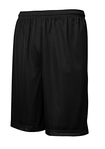 Logo Gym Shorts - Joe's USA tm - Mens Moisture Wicking Mesh Athletic Shorts-XS