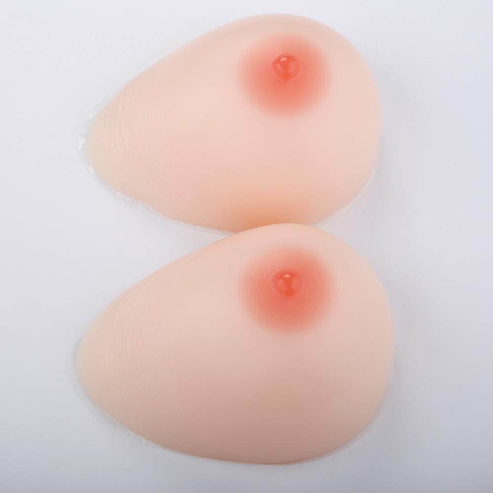 1 Pair Silicone Breast Forms Mastectomy Self-Adhesive Artificial Lifelike False Boobs for Crossdresser Transgender,Cup AAA-N,3,Cupkk/6000G/Pair.10.2 * 7.5 * 4.7Inch