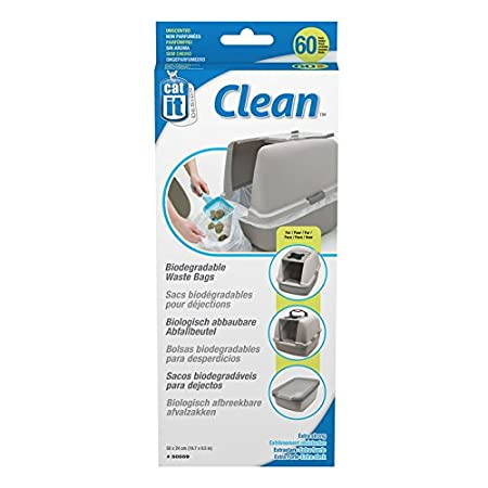 Amazon.com: Catit 50559 Biodegradable Litter Catcher Bags ...