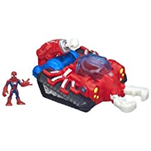 Playskool Heroes Marvel Super Hero Adventures Web Strike Tank Vehicle with Spider-Man Figure