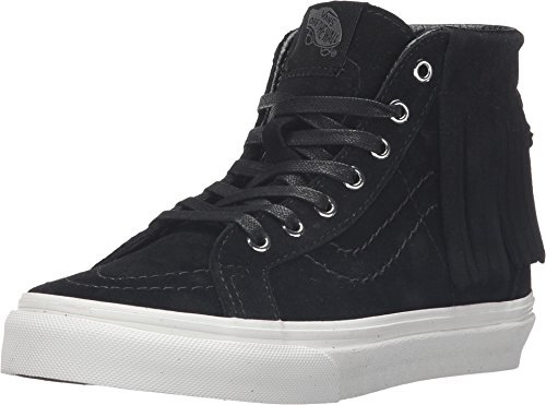 - Vans Girl's SK8-Hi Moc (Suede) Black/Blanc De Blanc Skateboarding Shoes (12.5 Little Kid M)