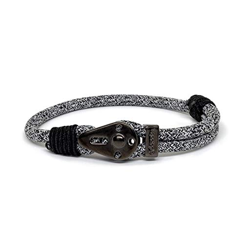 Topologie Bracelets Yosemite Chrome Black Black Melange 5mm ()