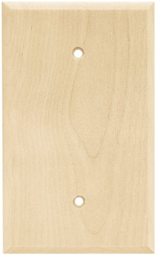Brainerd 64662 Wood Square Single Blank Wall Plate/Switch Plate/Cover, Unfinished