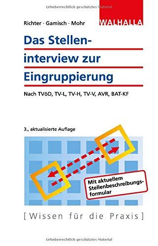 Das Stelleninterview Zur Eingruppierung  Nach TVöD TV L TV H TV V AVR BAT KF