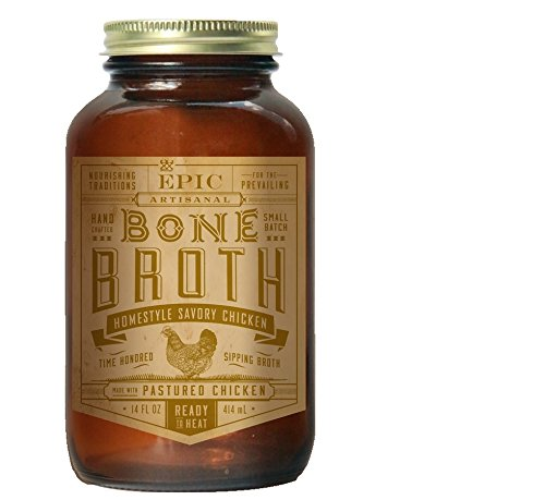 Marrow Bone Soup (Epic Bone Broth, Homestyle Savory Chicken, 14 Ounce (Pack Of 6))
