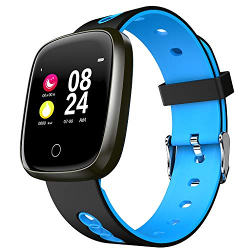 Hot Sale! NDGDA, W19 Sports Fitness Smart Watch Activity Heart Rate Tracker Blood Pressure Watch (Blue)
