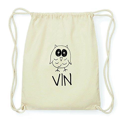 JOllipets VIN Hipster Turnbeutel Tasche Rucksack aus Baumwolle Design: Eule