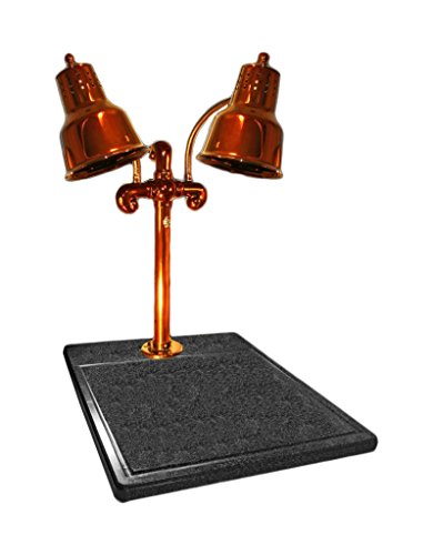 Hanson Brass DLM/BB/SC Carving Station, Dual Bulb Heat Lamp, Synthetic Granite Base, 18'' x 20'', Smoked Copper Finish by Hanson Heat Lamps