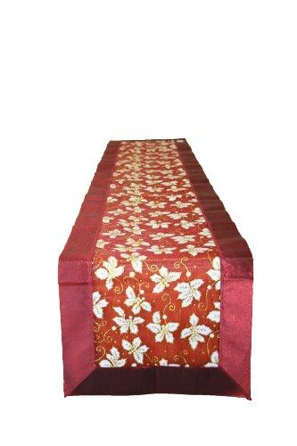 Camino de Mesa de Lino Violeta, Plateado, 13' x 70', 1, 1