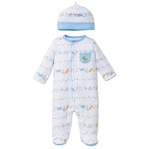 Little Me Baby Fun Footie with Hat, Safari, 9 Months