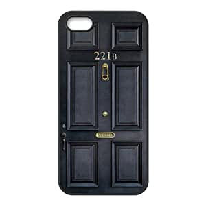 Classic Old Sherlock Holmes 221b Door Hot Waterproof Rubber(TPU) Apple iPhone 5 5s Case Back Cover at LIping