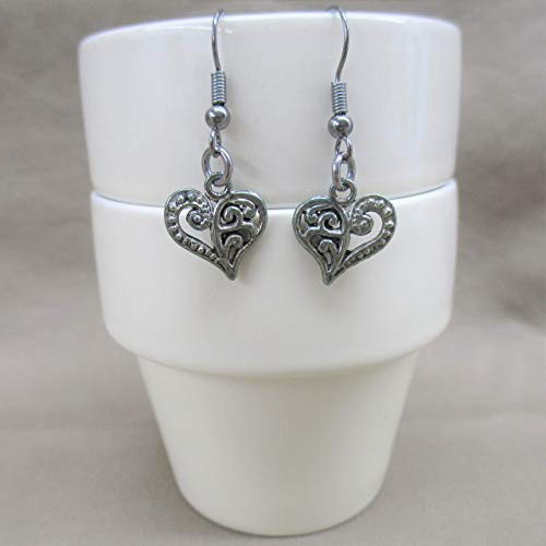Be my Sweet Valentine, Dangle Heart Earrings, Gift for Her, Lady's Choice, Valentine Heart Jewelry