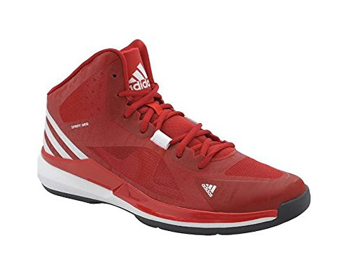 New Adidas Men's Crazy Strike Basketball Shoes Scarlet/Wh...