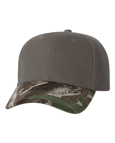 Joe's USA(tm - Solid Color Camouflage Cap-Olive/Realtree Hardwoods Green