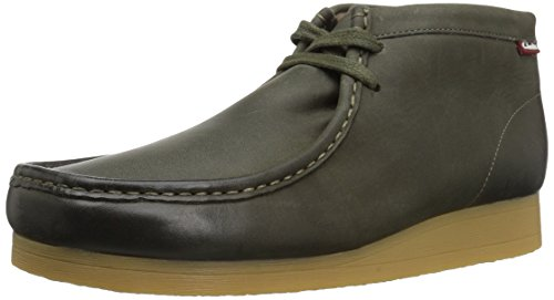 Clarks Men's Stinson Hi Boot, dark olive leather, 9 M US ()